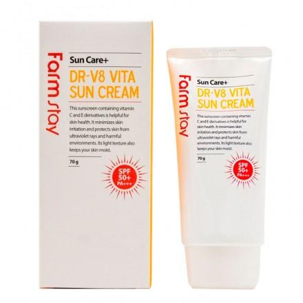 Витаминизированный солнцезащитный крем SPF 50+/PA+++, 70мл. FarmStay.