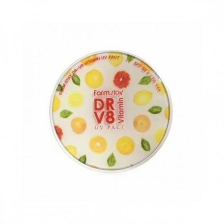 Компактная пудра с витаминами SPF 50/PA+++ со сменным блоком, оттенок 13, Светлый Беж, FarmStay. FarmStay.