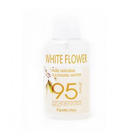 Очищающая вода с экстрактом белых цветов, 500мл. FarmStay.