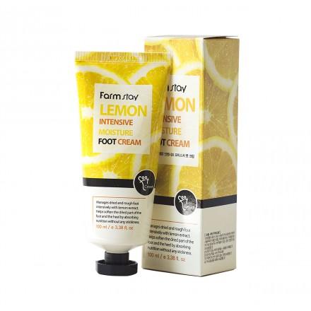 Крем для ног увлажняющий с экстрактом лимона, 100мл. FarmStay.
