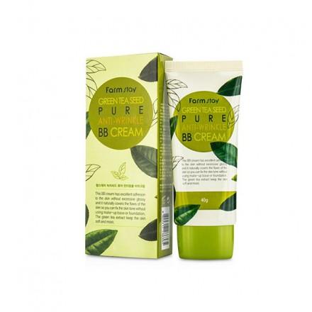 Многофункциональный разглаживающий ББ крем с семенами зеленого чая, 40гр. FarmStay.