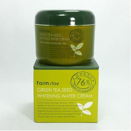 Увлажняющий осветляющий крем с семенами зеленого чая, 100 гр. FarmStay.