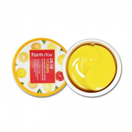 Гидрогелевые патчи для области вокруг глаз с витаминами и коллагеном, 90г. FarmStay.