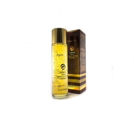 Сыворотка с лифтинг-эффектом с экстрактом мёда и золотом, 150мл. FarmStay.