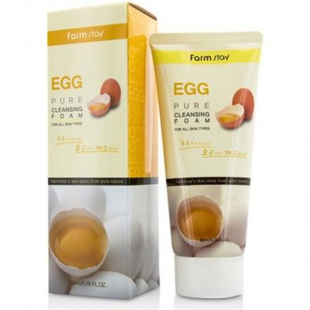 Пенка очищающая с яичным экстрактом, 180мл. FarmStay.