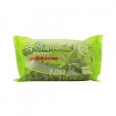 Мыло с отшелушивающим эффектом с зеленым чаем, 150мл. Juno.