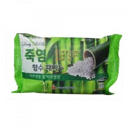Мыло с отшелушивающим эффектом парфюмированное с бамбуковой солью, 120мл. Juno.