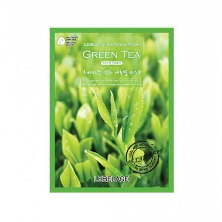 Маска тканевая с экстрактом зеленого чая, 23г. Lebelage.