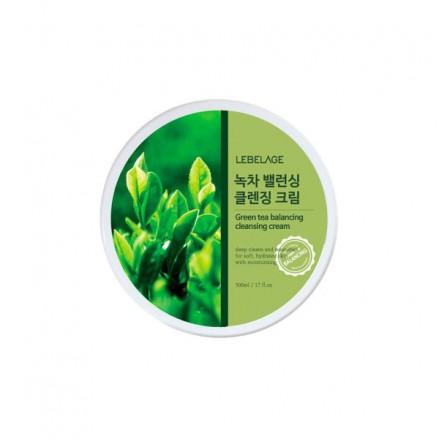 Очищающий крем для снятия макияжа с экстрактом зеленого чая, 300мл. Lebelage.
