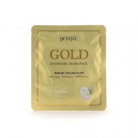 Гидрогелевая маска для лица с золотом, 32гр. PETITFEE.