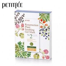 Тканевая гель-маска успокаивающая и восстанавливающая с растительными экстрактами, 25гр. PETITFEE.